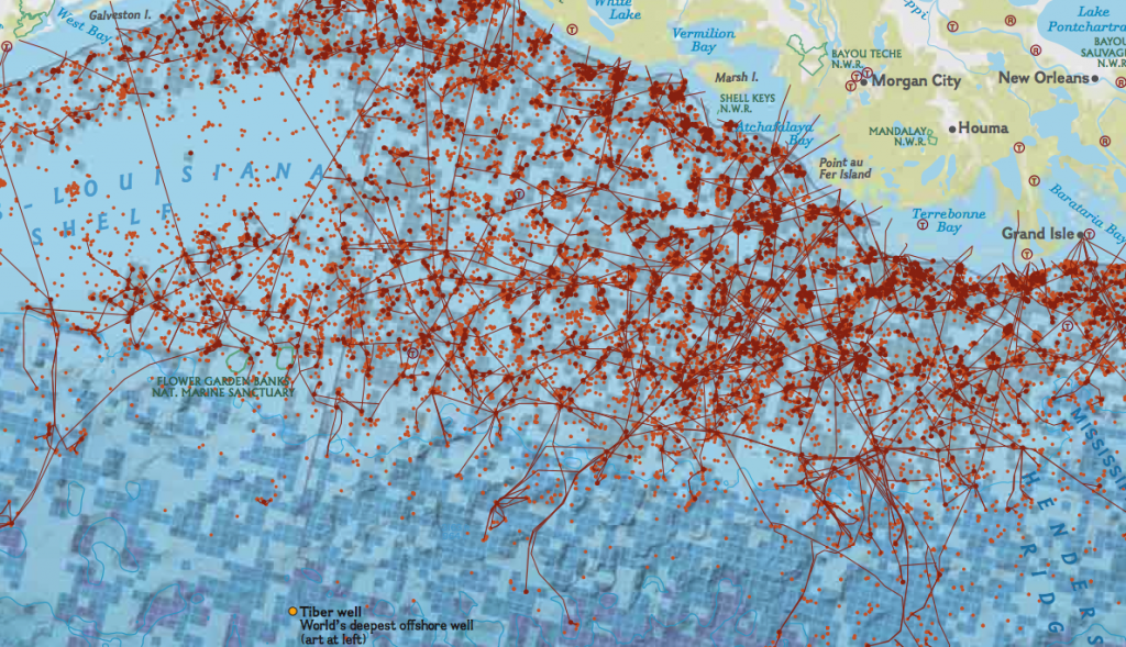 Map Oil Rigs Gulf Mexico: Map Of Offshore Rigs In Gulf Of Mexico At Infoasik.co